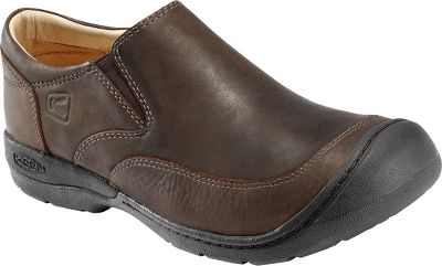Only Keen craftsmanship can produce this level of everyday style and all-day comfort. Sleek, full-grain leather uppers, leather linings and partial stitch-down construction deliver a refined look and feel. Removable Keen.Cush footbeds and memory foam cradle your feet for all-day comfort. Durable, nonmarking rubber outsoles create traction on a variety of surfaces. Average weight: 14.9 oz./pair.Mens sizes: 7-15. Half sizes to 12. Color: Tobacco. - $9.88