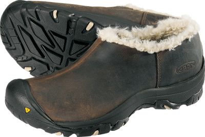 Tough, waterproof nubuck uppers work with breathable, waterproof Keen.Dry membranes to keep your feet dry and comfortable. 200-gram Keen.Warm insulation provides superior warmth, and compression-molded EVAmidsoles deliver all-day-wear comfort. Faux-fur linings are stylish and fun. Nonmarking rubber outsoles have Keens signature toe bumpers. Imported.Women's sizes: 6-10. Half sizes to 10.Color: Slate Black. - $74.88