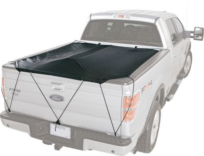 Motorsports Constructed of a rugged, weather-resistant fabric, this flexible tonneau installs in seconds, so you can quickly and easily protect oversized and odd-shaped gear and equipment. The resilient bungee-cord mounting system is sewn into the cover for extra durability and fits all truck beds up to 6-1/2 ft. Patented C-hooks keep the cover solidly anchored. Includes a heavy-duty storage pouch. Imported. - $14.88