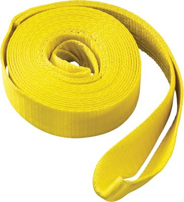 Auto and Cycle Never be stranded or stuck again without the necessary equipment to get pulled out. Nylon web recovery strap with 15,000-lb. break strength. Hundreds of uses. Dimensions: 2 W x 20'L. Gender: Male. Age Group: Adult. Type: Accessory. - $22.88
