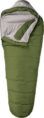 "Camp and Hike Featuring 550-fill-power down insulation and heat-trapping, ground-level side seams, these lightweight bags offer exceptional warmth and comfort. Sleeping pad security loops attach bags to pads for a comfortable nights sleep. Convenient stuff sack for packing in and out. Soft, 50-denier polyester taffeta shell and liner. Collar baffle prevents insulation migration. Cold-air-stopping, insulated draft tube and hood. 3/4-length, two-way locking zippers. Hang loops. Imported. Fill Weight: 1 lbs. 4 oz.. Gender: Unisex. Type: Mummy Sleeping Bags. Temp Rating: 20&degF to 39&degF. Model: Regular. Dimensions: 31"" x 78"". Color: Green. Carry Weight: 2 lbs. 8 oz.. Temperature Rating: 20&degF. 20 Degree Regular. Color Green. - $99.88"