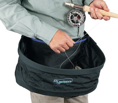 Flyfishing The extra-wide hoop is easy to shoot from, and can be adjusted to fit on your front or side. Lightweight, easily packable. See-through mesh bottom and quick-release buckle is practical and safe. Works exceptionally well for float tubers. Size: 19 x 16 x 7 . - $37.88