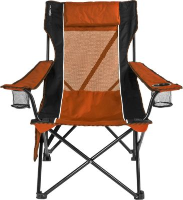 Camp and Hike Kijaros Sling Chair combines the portability of a camp chair with the comfort of a recliner. Steel-tubing frame supports the heavy-duty polyester-ripstop fabric. Organizer with a zippered pocket and mesh pockets for storing a book or cell phone, plus each armrest includes a cup holder. Detachable cushioned headrest. Mesh panel on back and seat encourages airflow. Carry strap on both the chair and bag for easy transport. Folds conveniently to fit in the included 500-denier-polyester carry bag. Imported. 33.9L x 30.3W x 36.6H. Wt: 8.5 lbs. Wt. capacity: 250 lbs. Colors: Green, Orange, Gray, Caymen Blue, Blue, Red, Pink. Color: Orange. - $44.99