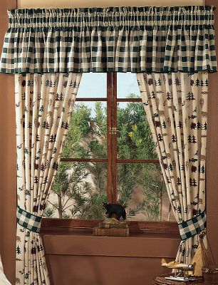 Entertainment These poly/cotton percale drapes make a handsome addition to your bedroom set. Drapes include two 42 W x 84 L panels with 3 header and 2 tie backs. Pattern: Northern Exposure. Gender: Male. Age Group: Adult. - $59.99