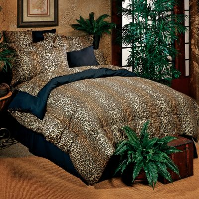 Entertainment The mystique of wild Africa glows from these exotic-themed bedding sets. Theyre perfect for topping off a safari-styled dcor or for dressing up a childs bedroom. These complete bedding sets include a comforter, sheet set, bed skirt and two shams (twins includes one) adorned by either a leopard or zebra print. The leopard bed skirt is an adventurous solid black to match the comforter and pillow backs, while the zebra bed skirt matches the rest of the set. The comforter is stuffed with 100% polyfill. 180-thread-count, 50/50 cotton/polyester blend. All pieces are machine washable. Shams measure 27 x 27. Imported. Sizes:Twin (65 x 90) Twin XL (65 x 95) Full (80 x 90) Queen (86 x 94) King (104 x 94) California King (104 x 94) Available: Leopard, Zebra, Zebra Pink, Zebra Brown. Size: TWIN XL. Color: Zebra. Type: Bedding Sets. - $109.99