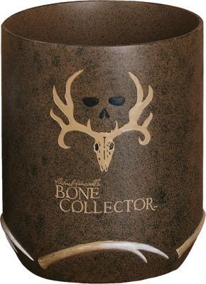 Entertainment Turn your bathroom into a trophy den. Features pro-hunter Michael Waddells signature, his famous trophy skull logo and designs inspired by the Bone Collector trademark. Hand-painted resin with a faux-textured finish. Imported. Type: Wastebaskets. - $9.88