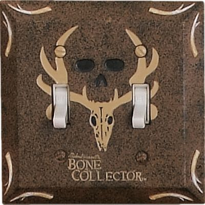 Entertainment Turn your bathroom into a trophy den. Features pro-hunter Michael Waddells signature, his famous trophy skull logo and designs inspired by the Bone Collector trademark. Hand-painted resin with a faux-textured finish. Imported. Type: Switch Covers. - $9.99