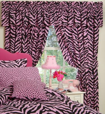Entertainment The mystique of wild Africa with a pink twist glows from these exotic-themed drapes. Theyre perfect for topping off a safari-styled dcor or for dressing up a childs bedroom. Tiebacks included. 180-thread-count, 50/50 cotton/polyester blend. Polyester/cotton lining. Machine washable. Imported. Per two panels. Valance sold separately. Dimensions: 84 x 63 with 3 header. Color: Zebra Pink. Color: Zebra Pink. Gender: Male. Age Group: Adult. Type: Drapes. - $29.99