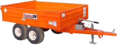 Motorsports When it comes to earth-moving projects, collecting wood or other heavy jobs, this trailers 1.5-ton capacity and 70L x 50W x 13H bed dimensions are ready for your largest, heaviest loads. Use the manual hydraulic pump for extra-easy dumping. Its two-way tailgate opens from the bottom, so unloading and spreading earth is a breeze. Open tailgate from the top and load it like a truck. Walking tandem axles add strength and stability. Equipped with a 2 ball hitch and a swivel clevis hitch. Made in USA. Weight: 864 lbs. (aprox.). Gender: Male. Age Group: Adult. - $2,799.99