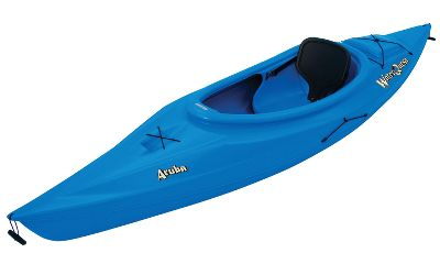 Kayak and Canoe Ease this kayak out into the deep blue waters and you wont look back. The adjustable seat offers high back support, and the adjustable foot braces offer long-lasting comfort and control for all-day excursions. You wont feel restricted or confined since its large open cockpit offers room to move. The on-board hatch offers rigging and equipment storage. Enjoy the convenience of a water bottle holder and durable carrying handles for loading and unloading. Includes shock-cord deck rigging and a paddle leash. Made in USA. Dimensions: 10L x 26W x 11H. Weight: 40 lbs. Weight capacity: 250 lbs. Colors: Blue, Red. Color: Blue. Type: Kayak. - $369.99