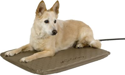 Hunting Place it in a doghouse, basement, garage or living room, and the super-soft orthopedic bed gives your four-legged friend hours of comfortable warmth, even in subzero weather. Unlike a fabric bed, its soft PVC exterior wont absorb water or stay wet. Low-wattage design conserves energy. For indoor and outdoor use. FREE fleece cover included. Imported. Sizes: Medium, Large. Size: MEDIUM. Type: Dog Beds. - $69.99