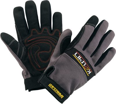 Motorsports Protect your hands during off-road adventures wearing these form-fitting gloves. Kolpin partnered with Ironclad to deliver the ultimate in rugged durability matched with the precise feel and support you need for long periods of demanding driving. The one-piece synthetic leather palms enhance grip. Airprene knuckle guard maximizes protection while maintaining flexibility. Padded, double-stitched palm pads with reinforced saddle and index fingers. Imported. Sizes: M-XL. - $12.88