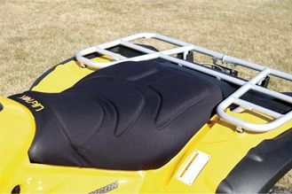 Motorsports Gel padding and an ergonomic design provide optimal temperature control and cushioned riding comfort. Easy to install with included Velcro straps. Fits most ATVs. Made in USA. Color/camo pattern: Black, Mossy Oak Break-Up. Color: Camouflage. - $19.99