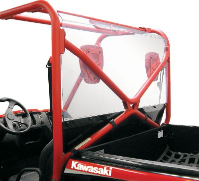 Motorsports Model-specific rear-cab protection. Abrasion-resistant .125 Lexan polycarbonate construction with smooth, CNC-machined edges. Custom injection-molded clamps for secure hold and easy, no-drill installation. All-stainless steel hardware with a corrosion-resistant, black-coated finish. Type: UTV Cab Accessories. Make/Model: Polaris 09 Ranger XP. Year/Make 09-10 Ranger Xp. - $309.99