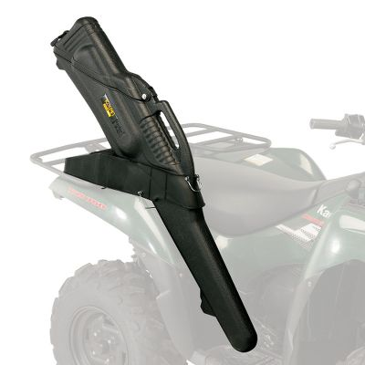 Motorsports These dustproof, water-resistant and protective gun cases double as ATV or saddle scabbards. Made with a virtually indestructible, high-impact polypropylene shell for maximum protection and a 2-piece padded nylon sleeve to absorb bumps and shock that could throw off sight alignment. The hatchback design of the Gun Boot 6.0 provides easy access to rifles with scopes up to 50mm. Padded liner protects your firearm during transport. Will fit most shotguns and bolt-action rifles, including scoped rifles. Utilizes all ATV Gun Boot IV mounts, but will not fit UTV mounts. Streamlined profile for easy storage in tight spots, such as a bush plane or vehicle. Molded-in handle. Secure locking system seals tight and accepts padlock. Streamlined molded feet. ATV bracket not included. Black only. Color: Black. Type: Hard Gun Storage. - $50.99