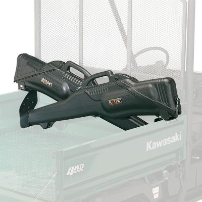 Motorsports These secure, dependable metal brackets cradle two Koplin 6.0 Gun Boots (sold separately) for the ultimate in safe firearm transportation and provide quick and easy access to firearms. The sturdy powder-coated steel construction preventions vibration and movement over rough terrain. Compact design requires minimal bed space, leaving plenty of room for additional gear. In-bed mounting location will not interfere with rear visibility. Will not work on Mule 600/610. Size: Large/Wide bed width (min. 47.75max. 55). - $69.99