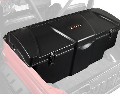 Motorsports Mount the Koplin Rhino Cooler Trunk to your UTV and youll enjoy ice-chilled food, beverages or supplies wherever the trail leads. Its cold-preserving, foam-insulated design houses two 1-cu.-ft. storage areas at the sides and the center .4-cu-ft. area has a removable lid and storage tray. You can separate ice and beverages from dry goods since all compartments are wet or dry storage areas, each equipped with convenient drain plugs. Constructed of heavy-duty, rotomolded and UV-stabilized polyethylene for long-lasting durability. Fits all Rhino models. Made in USA. - $287.99