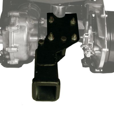 Motorsports Increase the versatility of your ATV towing options with Kolpins ATV 2 Receiver Hitch. This unit will fit on most ATVs with rear suspension and can accept any standard 2 receiver-hitch plug-ins. It also accommodates three-point hitches. Heavy-duty powder-coated steel construction. Comes with all mounting hardware. Type: ATV/UTV Implements. - $59.99