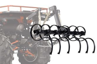 Hunting This cultivator is ideal for landscaping, yard work or loosening ground for hunting food plots. Use as many tines as you need for desired soil penetration and row spacing (six included). Tines attach to the tool bar with one bolt each and spacing is adjustable. If you plan on using multiple implements, we recommend the purchase of an additional tool bar for ease of change. Tines have two cutting points and are replaceable. (Heavy Duty 3-Point system shown, not available.) Tool bar for cultivator sold separately (see related items to order). Weight: 51 lbs. Gender: Male. Age Group: Adult. - $299.99