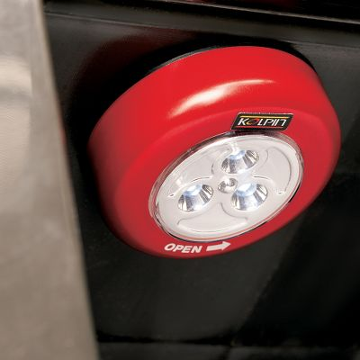Motorsports A dependable dome light for hard-to-see conditions with easy, no-drill installation. Its adhesive backing attaches to any clean, flat surface. Three super-bright, push-button LEDs. Runs on three AAA batteries (included). - $4.88