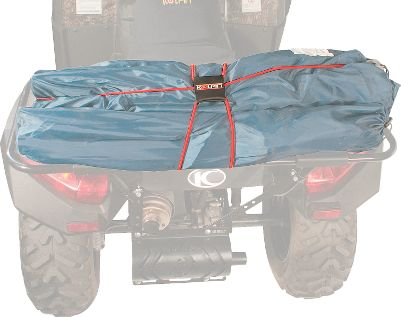 Motorsports Ideal for ATV use, easily secure various sized loads with a single shock cord storage system. The adjustable unit comes with six bungee hooks for multiple cargo securing configurations. - $4.88