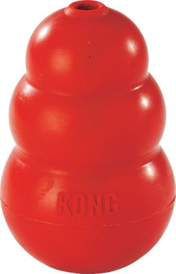 Hunting For over 30 years, the super-bouncy and nearly indestructible Classic Kong has been the gold standard for dog toys. Made of a red natural rubber thats perfect for fetch and tough enough to withstand your typical chewers. Insert a treat into the gripping hole at end and let your dog enjoy hours of safe chewing. Made in USA. Sizes: Medium - For dogs 15-35 lbs. Length: 3.5. Large - For dogs 30-64 lbs. Length: 4.3. Extra Large - For dogs 60-90 lbs. Length: 5.5. Size: XL. Color: Gold. Type: Dog Toys. - $11.88