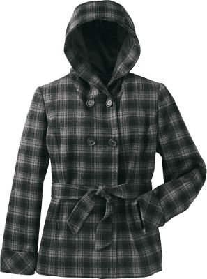 The 60% wool, 35% polyester and 5% other content in a classic plaid style is the perfect warm addition to your winter wardrobe. Imported. Sizes: S-2XL. Color: Black Plaid. - $59.88