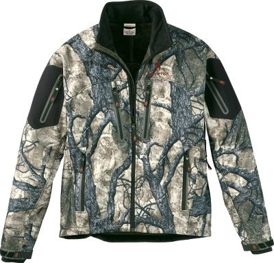 Hunting This soft, quiet jacket boasts quick-drying, polyester construction, ample pockets for storage and ventilation in key areas for long-wearing use, regardless of temperature. Fleece lined to seal in warmth. Ample ventilation with water-resistant, wind-blocking exterior. Jacket has pit-zip vents, adjustable cuffs and a heat-sealing drawcord hem. 100% polyester. Imported.Sizes: M-2XL.Camo pattern: Mountain Mimicry 1.0. - $99.88