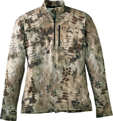 Hunting The Kryptek complete layering system teams proven tactical designs with features demanded by todays hunters. Krypteks Outdoor Groups designers draw their concepts from actual battlefield experience. Tested and proven by the U.S. Military in some of the most austere environments in the world, this pullover boasts versatile layering for a wide range of hunting conditions. Made of 94/6 polyester/spandex, the Duraface grid fleece has just the right amount of stretch for active comfort. The soft, quiet fabric delivers quick-drying, moisture-wicking warmth as a base layer or an outer layer. Chest pocket. Tapered arms and cuffs. Imported.Sizes: M-2XL.Camo pattern: Kryptek Highlander . - $99.99