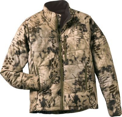 Hunting The Kryptek complete layering system teams proven tactical designs with features demanded by todays hunters. Krypteks Outdoor Groups designers draw their concepts from actual battlefield experience. This lightweight, insulated layering jacket compacts down to a highly packable size for versatile warmth that is always at the ready. Body mapping of the heat-retaining PrimaLoft insulation reduces bulk while maximizing warmth. Side stretch panels promote free range of motion. Durable water-repellent finish for quick-drying performance. Internal pocket. 100% polyester. Imported. Sizes: M-2XL. Camo pattern: Kryptek Highlander . Kryptek Highlander camo incorporates proven principles of visual deception based on the mimicry of foliage, animal, marine and geographic visual qualities in a wide range of environments. It is based on the extensive battlefield and special-operation-forces experience of the companys founders and pro staff. The pattern was named a finalist to become an official camouflage pattern for all branches of the U.S. military. Size: Small. Color: Kryptek Highlander. Gender: Male. Age Group: Adult. Pattern: Camouflage. Material: Polyester. - $189.99