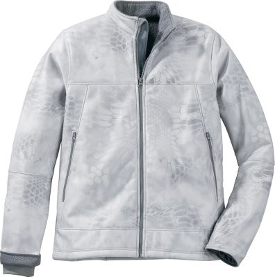 Hunting Perfect for hard-core adventures in the snow, as a layering piece or on its own. Quiet, warm and wind-resistant, this jacket is ideal for mild to extreme cold-weather conditions. Oversized pockets for storage. Inset cuffs create a wind barrier in the cold. 100% polyester stretch fabric allows for a full range of motion. Sherpa-fleece lining locks in a layer of warmth. Imported.Sizes: M-2XL.Color: Kryptek Yeti Camo. - $49.99