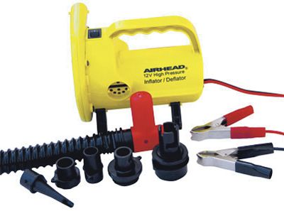 Wake Be ready to hit the water in no time using this efficient Air Pump. 12-volt high pressure pump puts out an unparalled 2.5 psi. Includes universal valve fittings. - $59.99