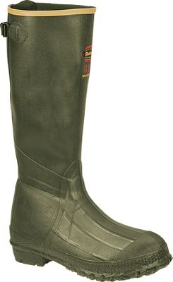 Hunting The Burly Trac-Lite provides great protection in wet, muddy environments. The ozone-resistant premium rubber offers 100% waterproof protection and has a high tensile strength, which means greater tear-resistance and durability. 800-gram Thinsulate Ultra Insulation provides warmth. The LaCrosse Ankle-Fit design prevents slippage and provides a secure, comfortable fit while walking. The wool-felt midsoles give insulating comfort and removable EVA footbeds offer cushioning. The heavy-duty Trac-Lite outsoles deliver all-around traction in mud, snow and other loose terrain. Imported. Height: 18. Average weight: 5.5 lbs./pair. Mens whole sizes: 6-15. Color: Green. Size: 12. Color: Green. Gender: Male. Age Group: Adult. Type: Boots. - $134.99