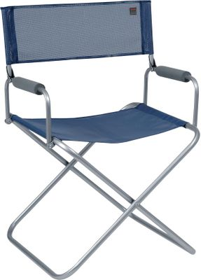 "Camp and Hike Lafuma chairs from France have a reputation for lounging comfort and lasting durability. This directors chair features a broad seat and padded armrests. Imported.Weight capacity: 260 lbs.Folded dimensions: 27""H x 22""W x 4""D.Colors: Ocean, Havane, Carbon. - $44.88"