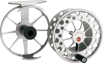 Flyfishing Guru reels are the newest and lowest-priced, fully machined reels in the Lamson line. The signature arm-style element frame combines open spokes to minimize weight while maximizing structural strength, which is a feature that you'll find on much more expensive reels. Like other Lamson reels, the Guru features true large-arbor ratios. Available in 3 through 11 weight, the reel incorporates the proven conical drag design and components Lamson is known for. A clear type 2 anodized finish on the Guru ensures years of hard use. Color: Clear. - $174.88