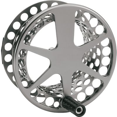 Flyfishing Waterworks-Lamson's most advanced technologies were used to create their most powerful fly reels ever. The large conical drag with fully sealed, zero-maintenance components generates twice the torque of previous saltwater designs. This proprietary system passes the harshest blue-water tests, delivering smooth reliability under line-snapping strain. Fully stainless steel, zero-lash tandem roller clutch delivers instant fail-safe engagement. Engineered for high stiffness and rigidity, the 6061 machined-aluminum frame supports increased levels of torque inherent with the most demanding fishing situations. Integrated foot/frame is stronger than a traditional fastened-on foot and also raises the center of mass of the reel, improving casting ease and accuracy. By increasing the coating thickness and reducing porosity, the hard-alox finish resists scratches and the effects of saltwater environments. Large, ergonomic, self-lubricating nonslip handle. Made in USA. - $259.00