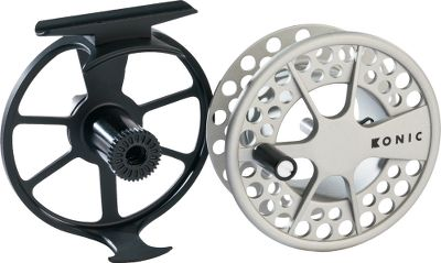 Flyfishing Konic II delivers smart design and high performance in these affordable reels. Extremely durable with a smooth contrasting finish, theyre pressure-cast, anodized and then coated with 100% solid polyurethane for scratch and corrosion resistance. Fitted with super-smooth, sealed conical drag. Type: Freshwater Fly Reels. - $109.88