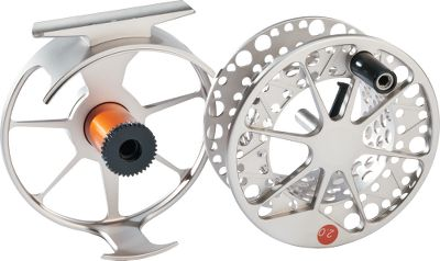 Flyfishing With large arbors, these reels are lightweight and durable with excellent drag performance at an affordable price. Featuring the same light, bright nickel and a beautiful Type-2 anodized finish as Lamsons Guru reels, these also have Lamsons trademark burnt-orange anodized drag cassettes. Color: Nickel. - $209.88