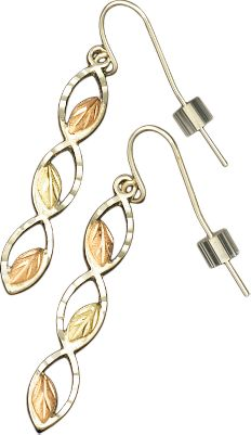 Entertainment Crafted by one of the leading jewelers specializing in Black Hills gold, these gold-and-silver earrings combine the natural beauty of these precious metals with masterful, nature-inspired designs. Made in USA. - $119.99