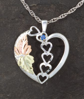 Entertainment Each enchanting, cast sterling silver heart pendant features a 12-Kt. green leaf, a 12-Kt. pink leaf and is accented with your choice of one to six 2.5mm synthetic birthstones. Sterling-silver rodium chain and bezel. Made in USA. Pendant dimensions: 1-1/4L x 1W. Chain length: 18. Available: One stone, Two stones, Three stones, Four stones, Five stones, Six stones. Note: To order, please enter the first 3 letters of each month youd like personalized on your ring (see More Views image) on each line after adding to your cart. Example: Line 1: JUN, Line 2: SEP. Must be in all CAPS. If preferred in a certain sequence enter them in the order wanted. Each field must be filled to complete the order. Color: Silver. Gender: Female. Age Group: Adult. Type: Necklaces. - $199.99