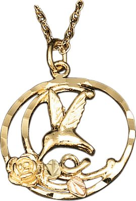Entertainment Crafted by one of the leading jewelers specializing in Black Hills Gold, this gold-and-silver pendant combines the natural beauty of these precious metals with a nature-inspired design. Made in USA. - $194.99