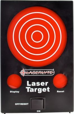 Hunting For use with LaserLytes original Laser Trainer, Laser Trainer Pro and Laser Trainer Cartridge, this interactive laser trainer target records where a laser hits the target. It contains 62 laser-activated LED lights and doesnt require a computer, television or projector. Its ideal for novice or professional shooters and even instructors to learn or teach shooting skills such as unsighted fire, accuracy, grouping and trigger control. Practice shooting skills just about anywhere, even a favorite recliner, and practice more often. Become a more confident shooter and enjoy a lifetime of low-cost training. The target gives delayed shooting feedback, just like the shooting range. Concentrate on the next shot not the last shot. Simply aim and dry fire with any LaserLyte Laser Trainer. To display impact, fire the laser at the red display circle on the target. When finished, simply dry fire at the red reset circle to begin again with a fresh target. Operates on three AA batteries (included) good for about 6,000 shots and can register shots up to 50 yards away. Need LaserLyte Trainer Cartridges to be able to use LaserLyte Trainer Target (sold separately). Dimensions: 9.5H x 6.25W x 2D. Weight: 1 lb. 4 oz. Color: Red. Type: Laser Accessories. - $199.99