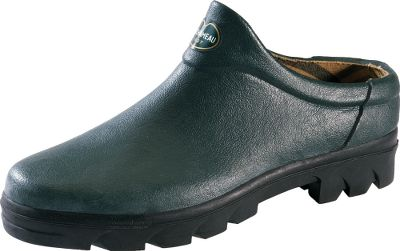 Hunting No-hassle, slip-on garden clogs with heel stoppers for a contoured, cradled fit. Natural rubber uppers repel moisture, dirt and debris, while the durable polyester and cotton jersey linings wrap your feet in ultrasoft comfort. Flexible, lugged outsoles provide optimal grip and traction. Imported. Womens sizes: 6-10. Colors: Dark Green, Light Green, Vermillion. - $84.99