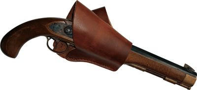 Safely carry your muzzleloading pistol with this traditional cross-draw holster. The design covers the pistols hammer, eliminating the chance of an accidental discharge. Constructed from 8-oz. latigo leather. Made to fit up to a 2.5-wide belt. - $29.99