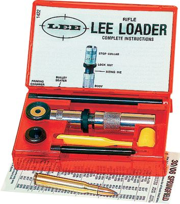 This is the first complete reloading kit ever offered. Millions of rounds have been reloaded with the Lee Loader. Its the perfect tool for anyone who wants to try reloading, occasional loaders or anyone who wants to keep it simple. It pays for itself in no time. Includes everything you need to begin loading one caliber. Type: Reloading Kits. - $29.99