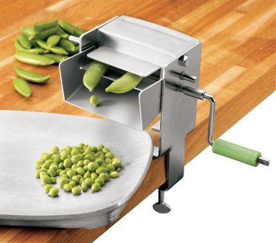 "The easy way to shell peas. Turn the crank and delicious peas roll right out of the trough. Sheller works with most types of beans, including black eye; purple hulls; cream peas; and fresh, ripe butter beans. Crank adjusts for use with portable hand mixers (not included). Dimensions: 4""L x 8""W x 8""H.Weight: 1.25 lbs. Type: Canning Accessories. - $42.99"