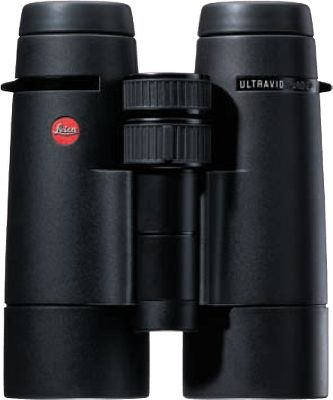 Hunting With over 200 innovative changes made to the previous Ultravid, the new Leica Ultravid HD 8x32 Binoculars maintains Leicas reign atop the high-performance optics industry. New fluoride lenses and prism coatings increase light transmission by 3% for brighter images in any light. A new AquaDura lens coating rolls rain off of external lenses and facilitates cleaning. A solid magnesium housing keeps weight at a minimum while adding considerable ruggedness, while the center axis pin is 100% ultradurable titanium. An all-metal, self-lubricating focusing system provides smooth focusing.The 42-layer High-Lux System prism coating produces nearly 100% light transmission per glass-to-air surface. Features Leicas industry-leading waterproof submersion rating of 16.5 ft. Includes a Cordura case, cushioned neck strap, objective lens caps, and a one-piece rainguard that covers and protects the two ocular lenses. Color: Black. Type: Full-Size. - $1,899.99