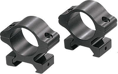 Hunting Experience vastly superior optical quality The Rifleman series of aluminum rings features the accuracy, durability and superior precision that has become the trademark of Leupold products at an extremely low price. Precision-machined from aircraft-grade aluminum for strength and recoil resistance. These Detachable Rings make it easy to change out scopes. Available: High. Finish: Matte Black. Color: Matte black. - $19.99