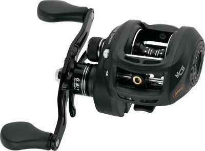 Fishing Top-of-the-line reel with premium construction includes a braid-ready, large-capacity, forged-aluminum, U-shaped spool that will help you work a cast to plunge deep through vegetation for a more powerful hookset. The strong one-piece, die-cast aluminum frame is outfitted with an aluminum gearbox sideplate and a lightweight graphite, left sideplate. High-strength, solid-brass gears, crank shaft and worm gear are finished by double-anodized detailing. Carbon-composite drag system has 14 lbs. of drag power. Metal star drag has an audible clicker to keep you more in tune to your line. Titanium-coated zirconia line guide is super-smooth with almost zero friction. The Magnetic Control System utilizes an external click dial to adjust the magnetic brake system. The bowed 95mm aluminum cranking handle features Lews Soft Touch contoured paddle. - $179.99