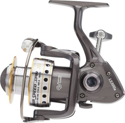 Fishing Rugged, reliable and loaded with features, this reel delivers high-end performance without breaking the bank. The durable graphite body and rotor stand up to harsh conditions while keeping weight down. A large-diameter, double-anodized aluminum spool and bail allows for longer casts and faster line retrieves. The 10-bearing system has a zero-reverse, one-way clutch bearing, ensuring smooth retrieves. The compact 5.2:1 gearbox gives this reel a thin profile while performing in extreme cold and heat. Machined-aluminum handle. - $29.88